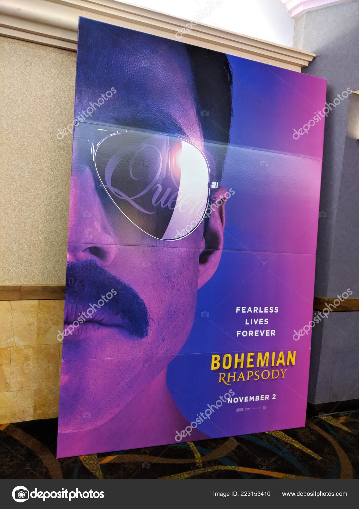 Honolulu June 2018 Bohemian Rhapsody Movie Poster Featuring Band