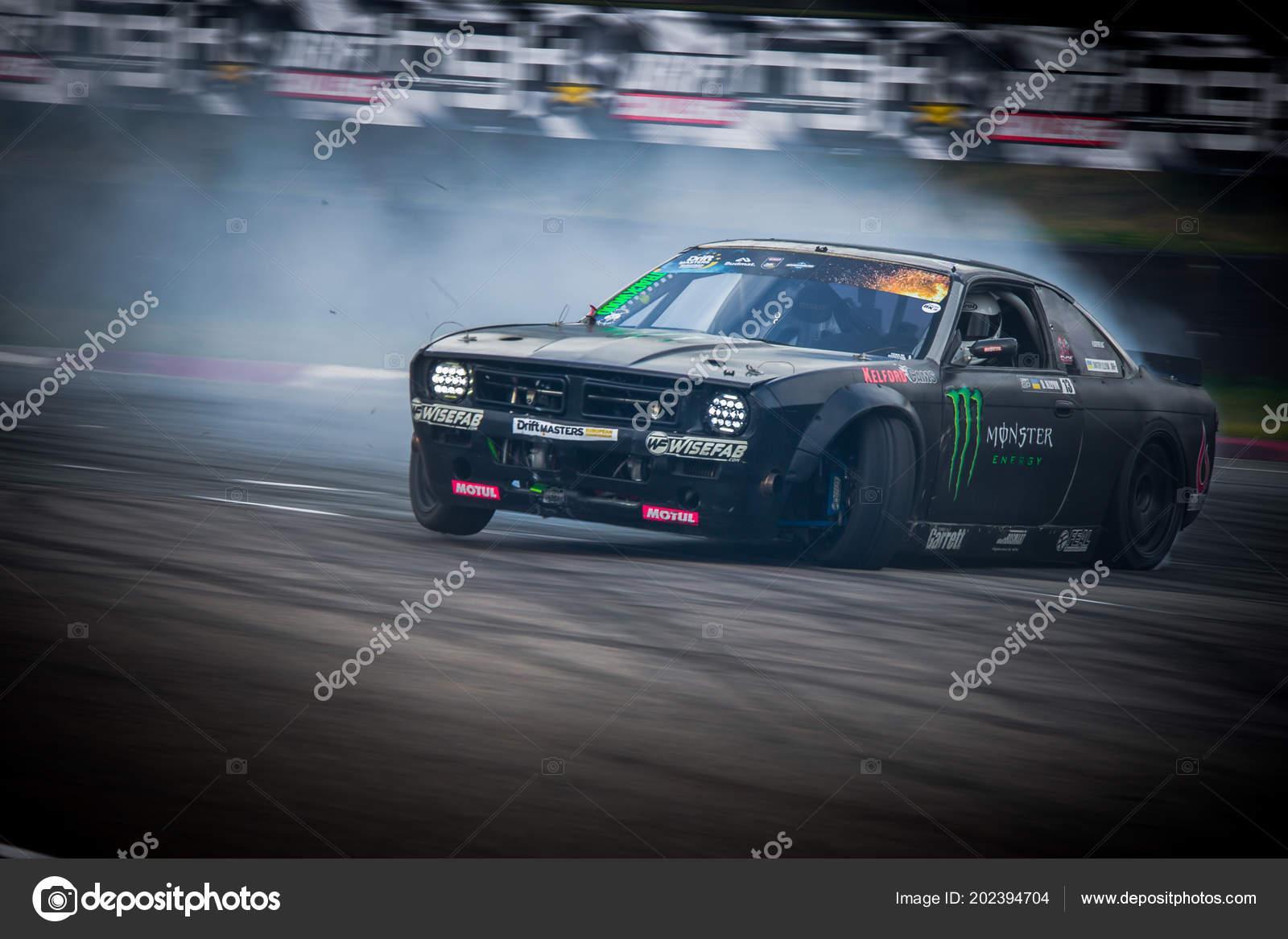 Riga Latvia June 30th 2018 Drift Car Motion Photo Taken Stock Editorial Photo C Vshivkova 202394704
