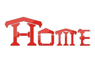 Home logo design template isolate on white background vector illustration