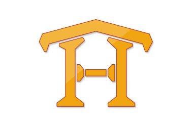 Home logo design isolate on white background vector illustration
