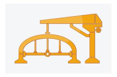 Construction logo design isolate on white background vector illustration
