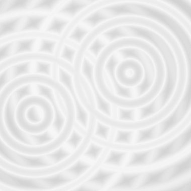 Abstract white rings sound oscillating, circle spin soft background