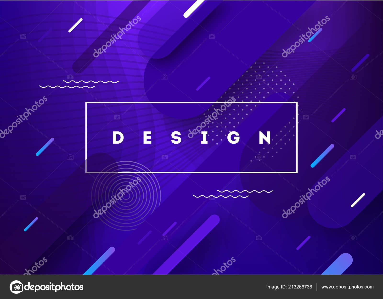 Liquid Color Background Design Fluid Gradient Shapes Futuristic Poster Illustration Stock Vector
