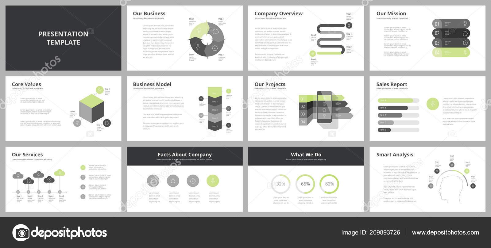 Modelos Apresentação Negócios Slides Elementos Vetor