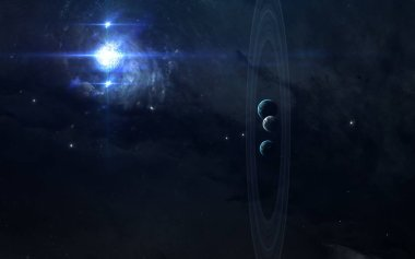 Deep space beauty, planets, stars and galaxies in endless univer