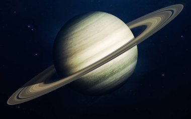 Saturn - planets of the Solar system in high quality. Science wa