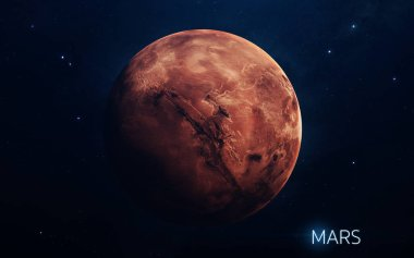 Mars - planets of the Solar system in high quality. Science wall
