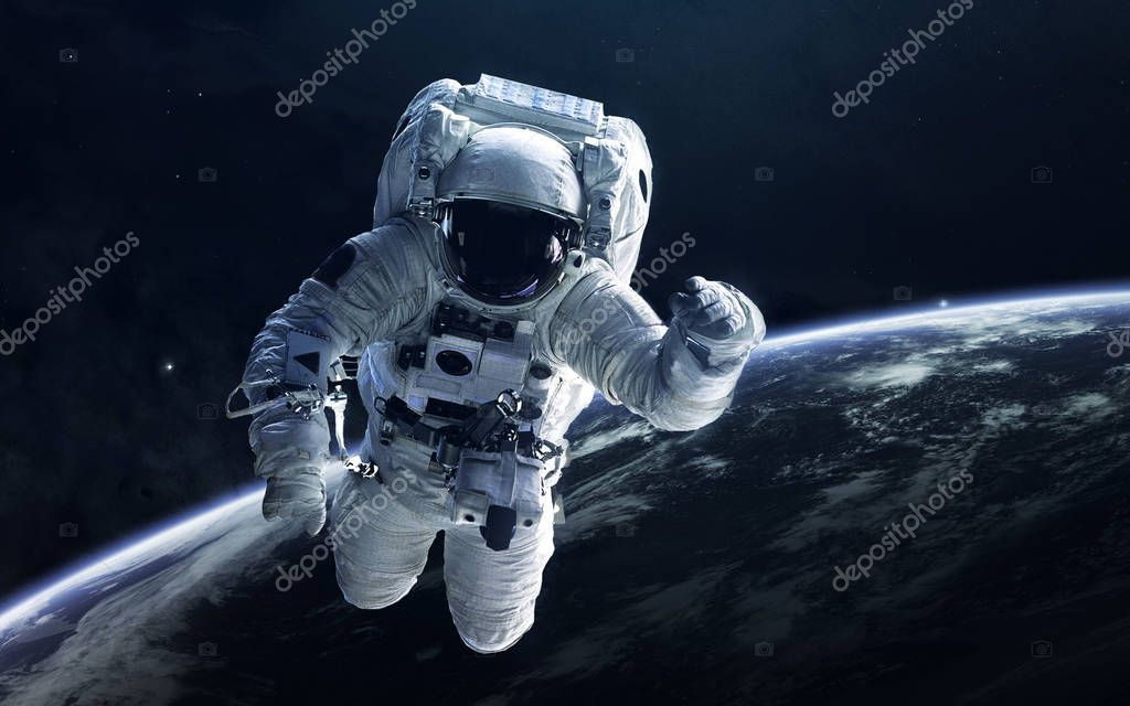 astronaut chilling in space - HD 2000×1125