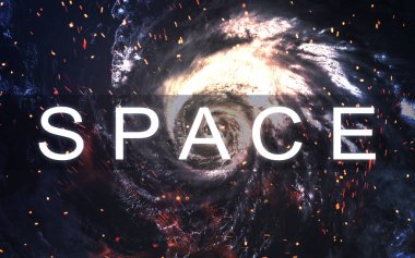 Starfield stardust and nebula space art galaxy creative background