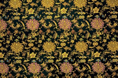 Chinese cloth as background