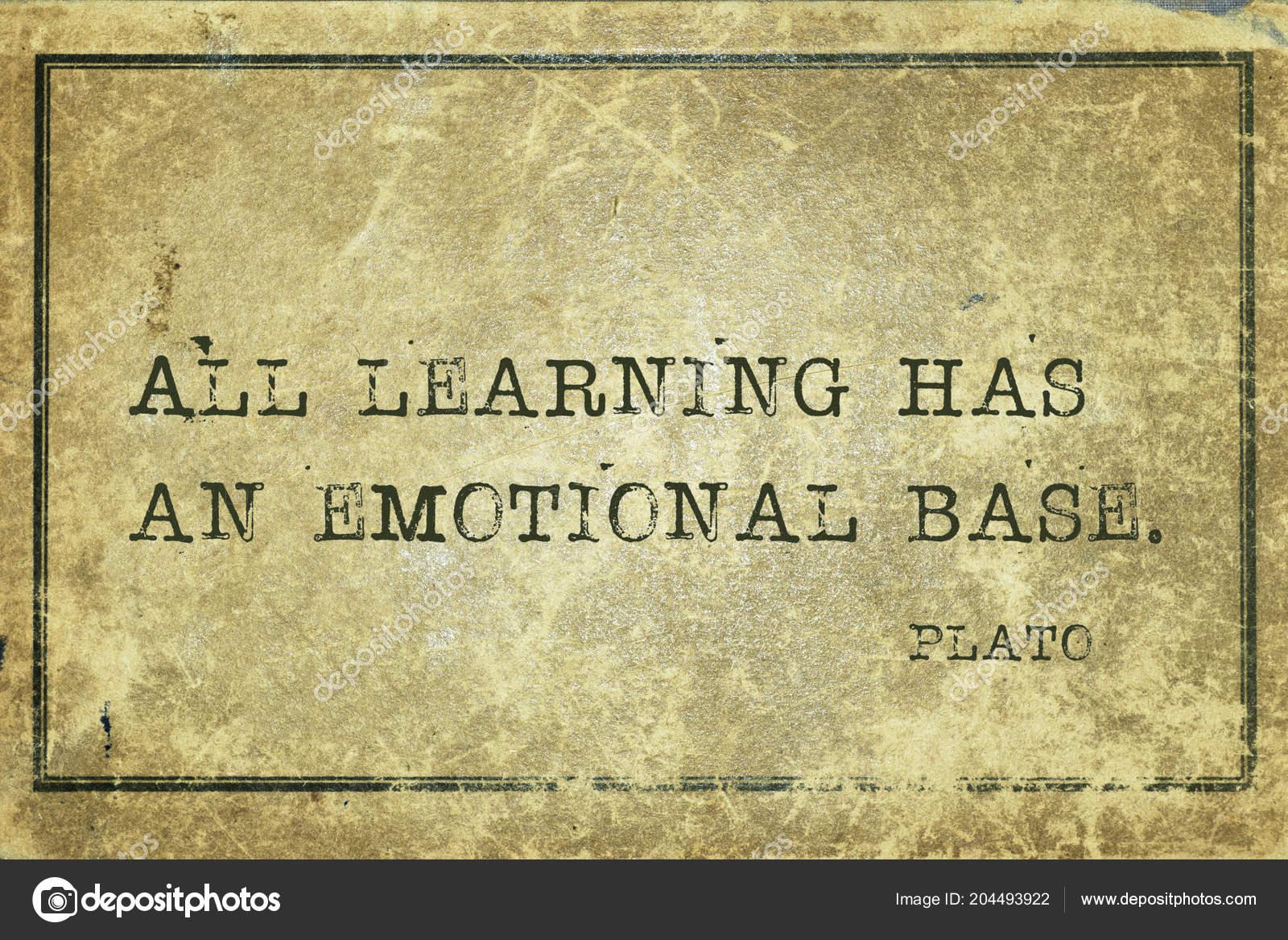 Alle Lernen Hat Eine Emotionale Basis Der Griechische
