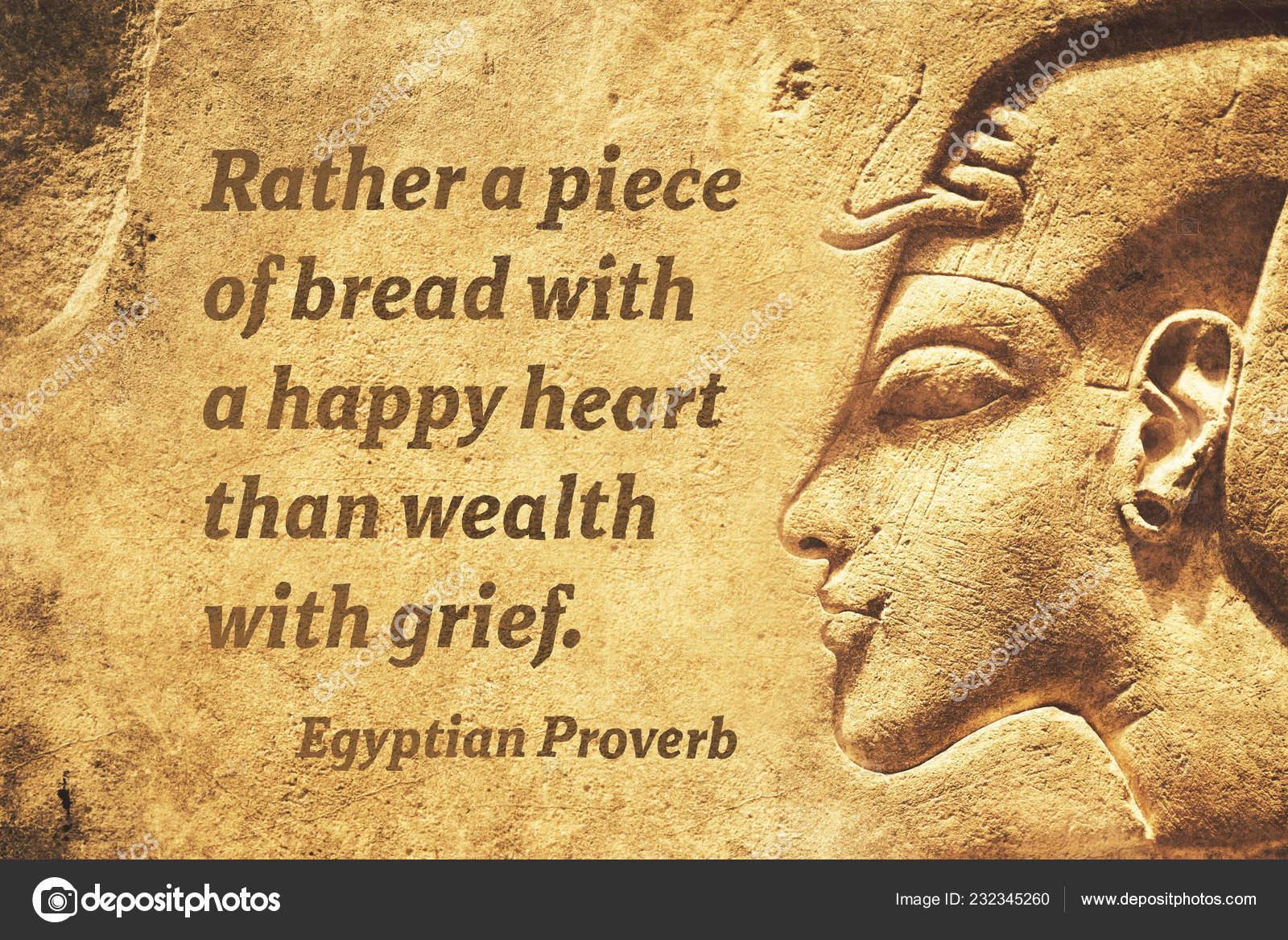 Piuttosto Pezzo Pane Con Cuore Felice Citazione Proverbio Egiziano