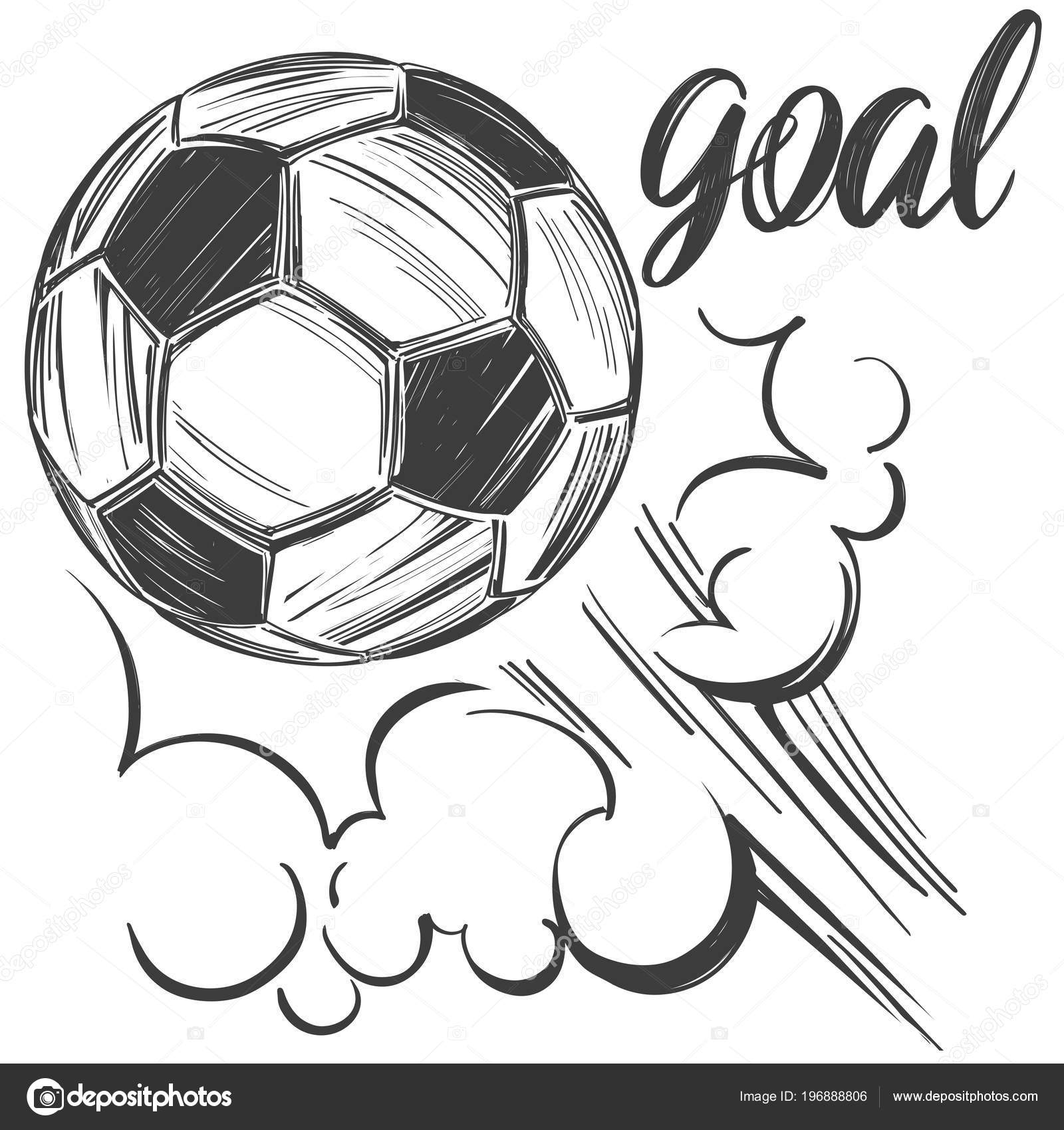 Football Soccer Ball Sports Game Calligraphic Text Emblem Sign