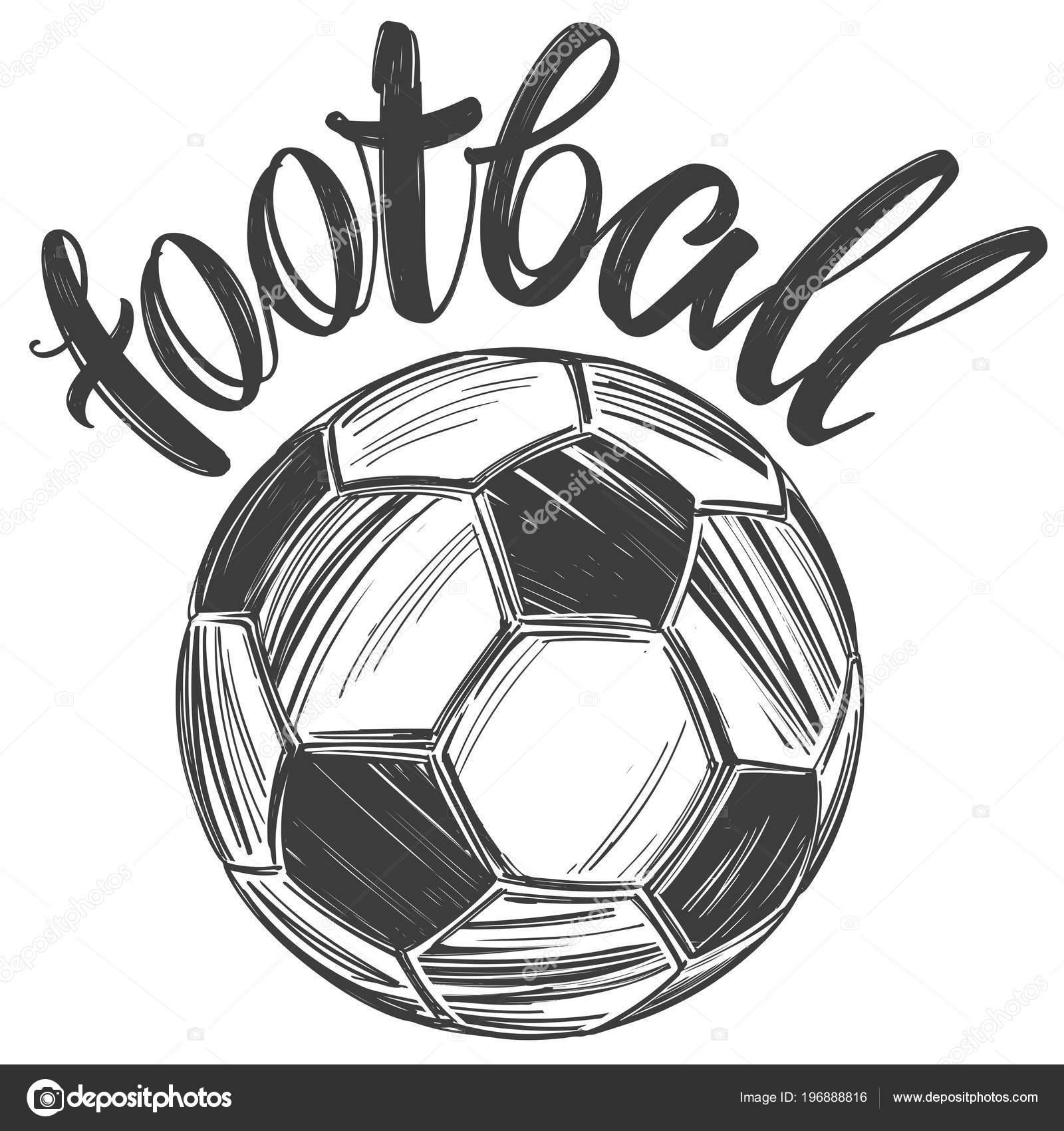 Fussball Fussball Sport Spiel Kalligraphische Text Emblem