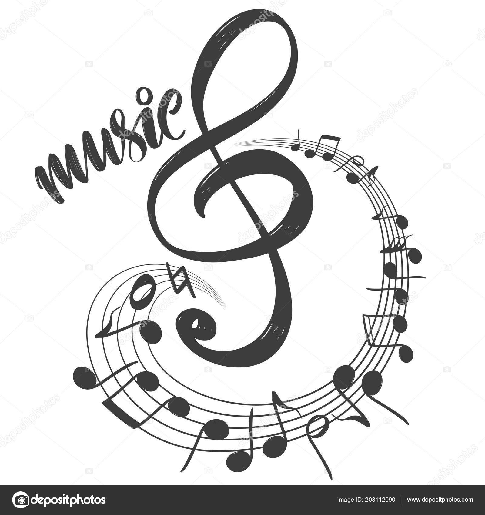 notensymbol liebe musik kalligraphie text