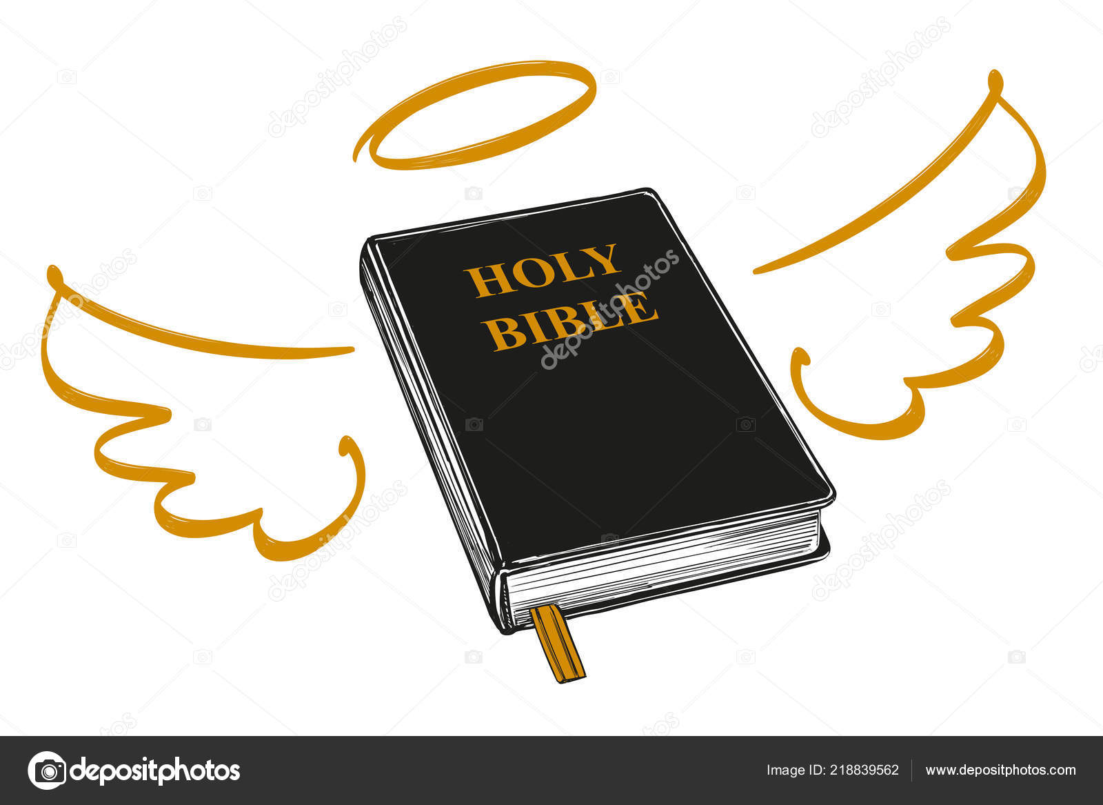 Holy Bible With Wings And Halo Gospel The Doctrine Of