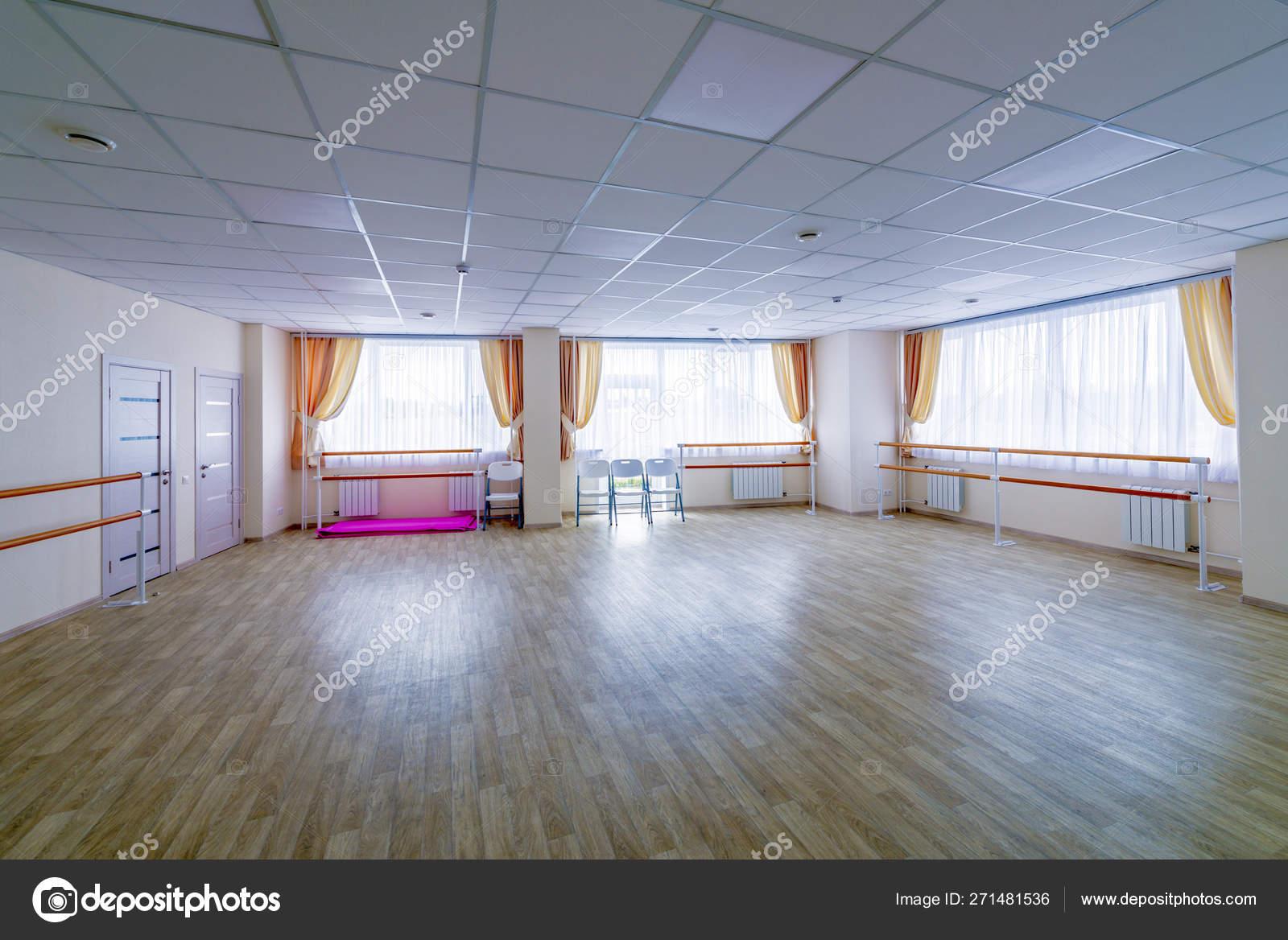 Interior Training Gymnastic Dance Hall Mirrors Stock Photo C Rogkoff 271481536
