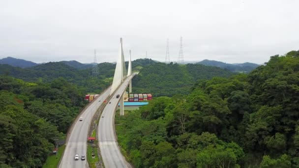 Letecký pohled na sté most přes Panamský průplav, volný přístup k jižní straně Panama