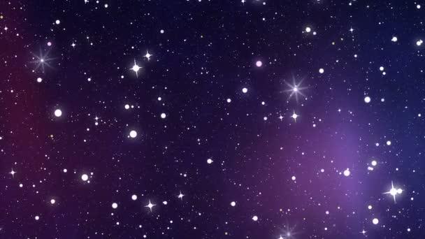 turning night sky with many bright stars