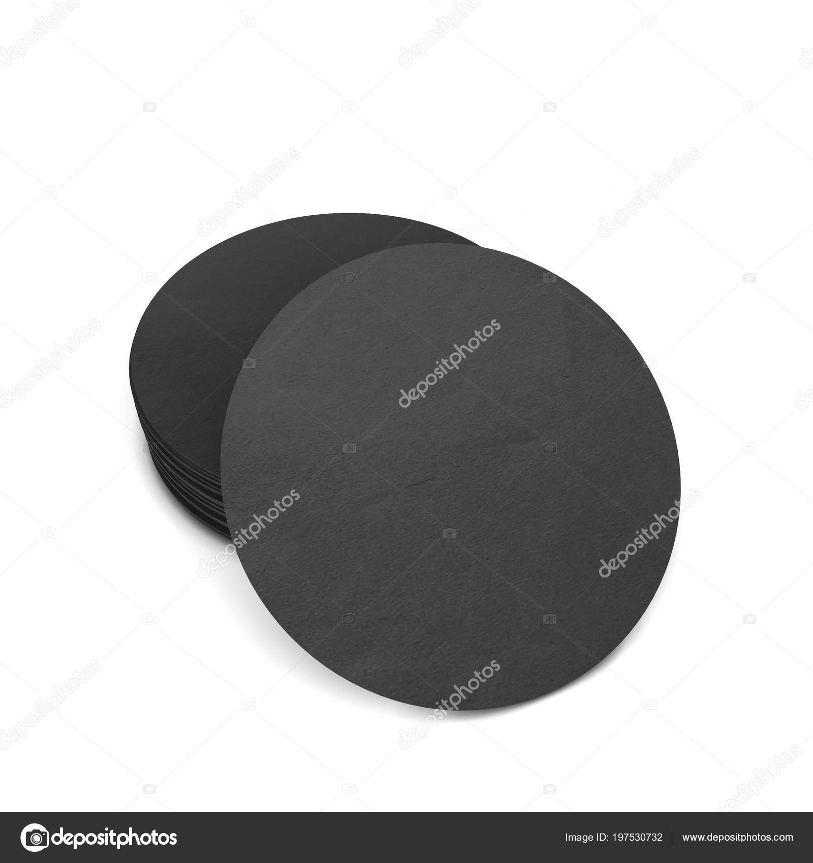 Blank Coasters Template Illustration Isolated White Background Stock Photo