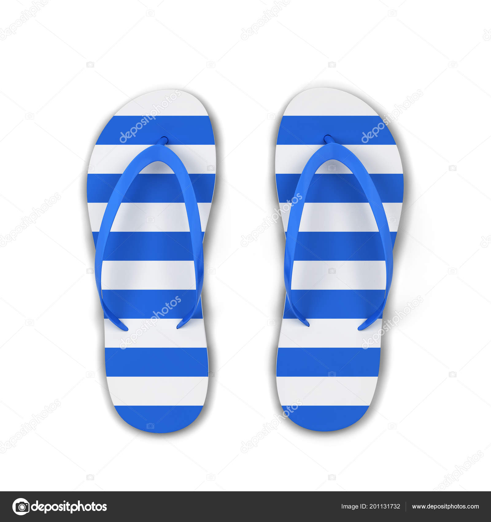 bd26a34dacfc Pair Blank Flip Flops Illustration Isolated White Background — Stock Photo