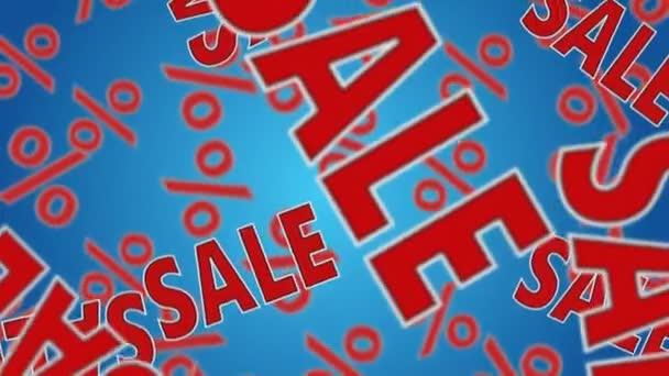 Text prodej a znaky procent klesat dolů. Sleva koncept.