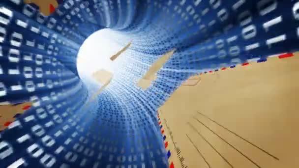 Elektronische Nachrichten im Internet-Tunnel. Kommunikationskonzept.