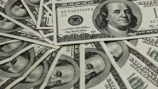 Stack of  american dollars close-up