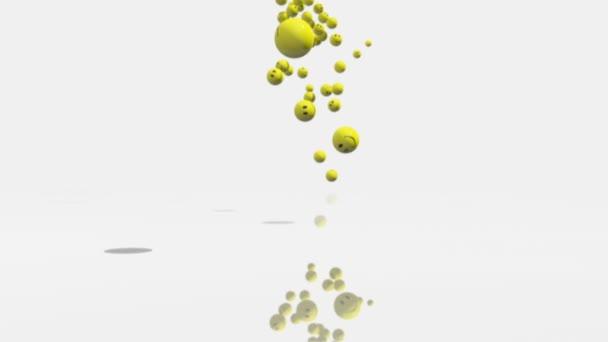 pruee3D animace klesající emotikon