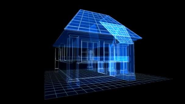 3D-s modellje a ház