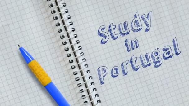 Szöveg dolgozószoba-ban Portugália kézírásos-ra lap-ból jegyzetfüzet és megélénkít.
