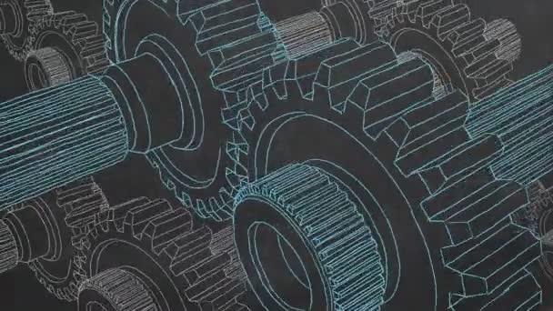 Ruční kreslení na tabuli a přenos animovaných lovných zařízení.