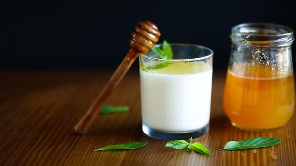 homemade yogurt with honey