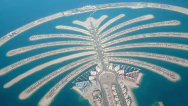 jumeirah palm island development in dubai schießen aus der luft