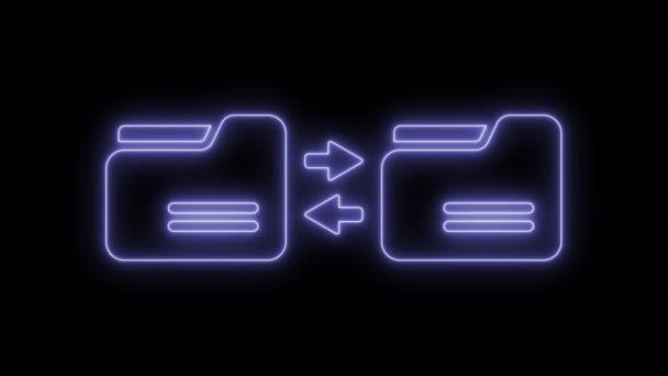 Animált szinkronizálás számítógépmappa ikon 4k