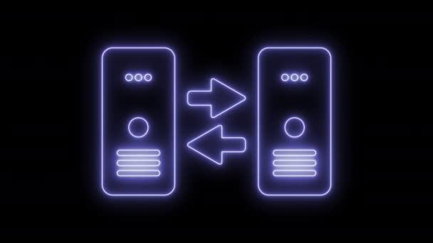 animiertes Server-Datenübertragungssymbol 4k