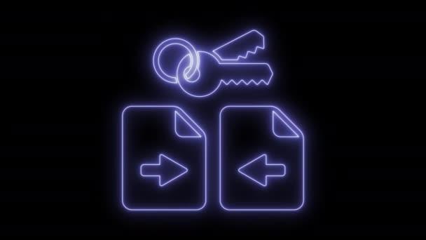 animierte sichere Datenübertragung Symbol 4k