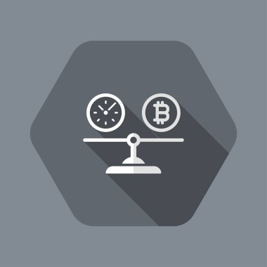 Comparison between time and bitcoin