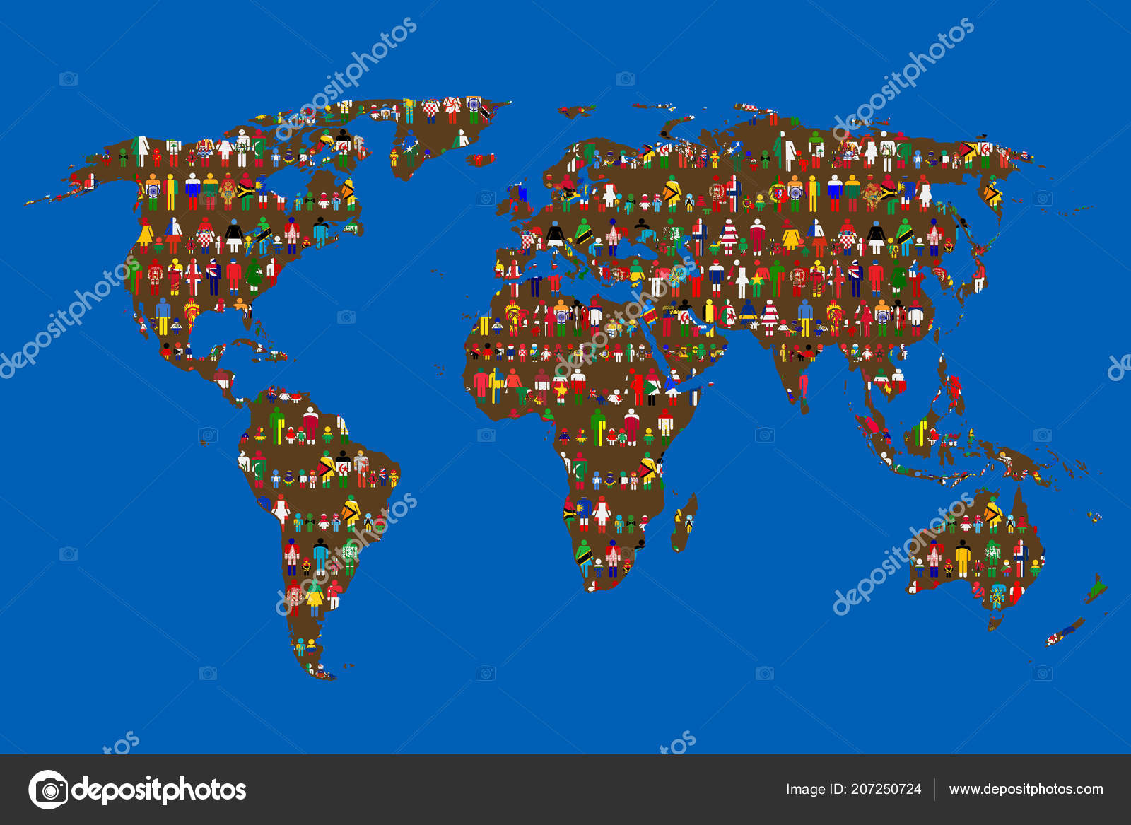 Globalizing concept world map people made flags stock vector globalizing concept world map people made flags stock vector gumiabroncs Gallery