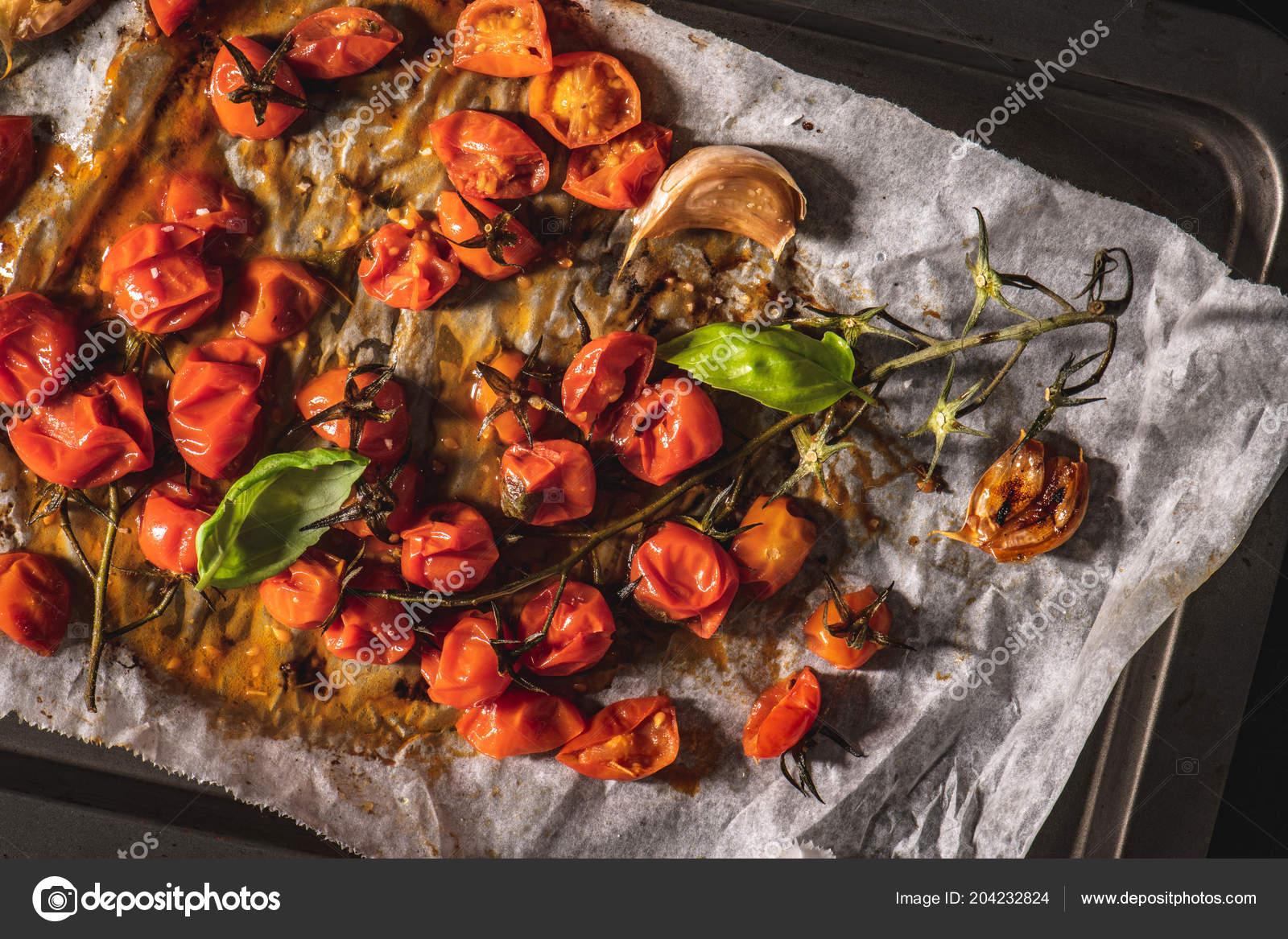 Gerösteten Cherry Tomaten Mediterrane Küche Rezept Idee ...