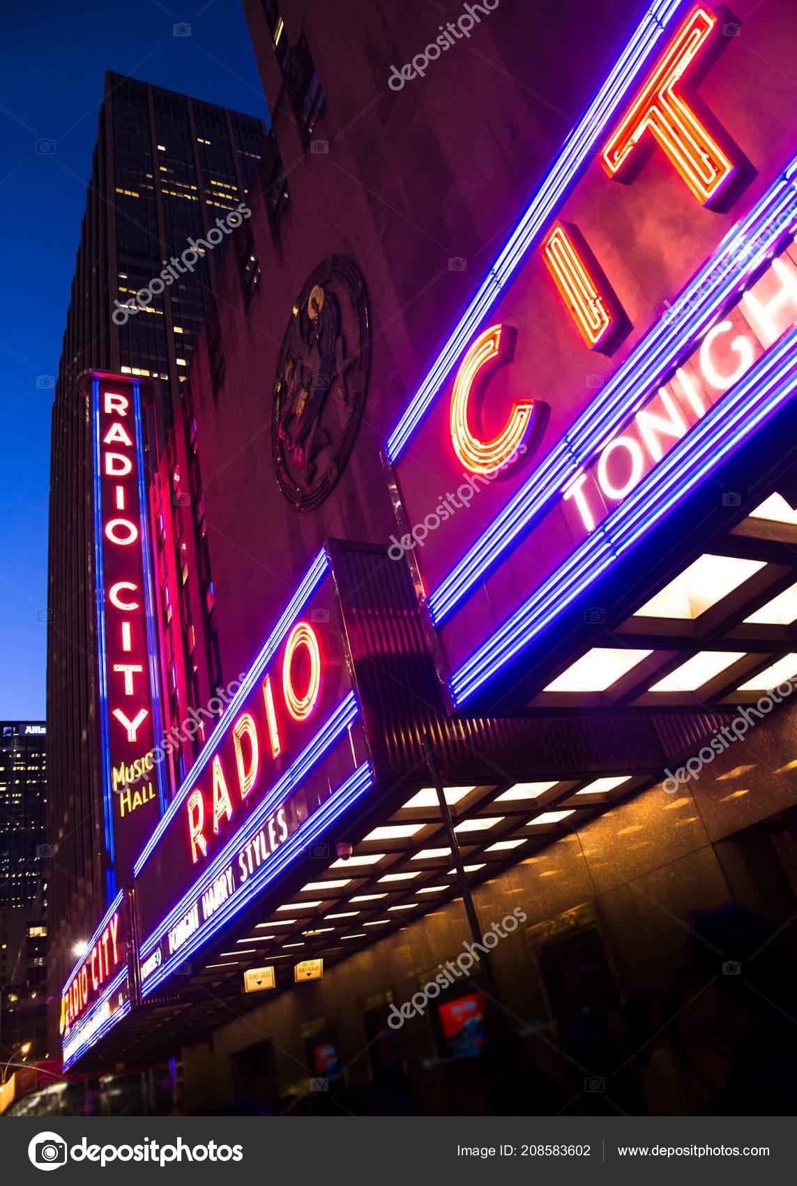 New York City September 2018 Helle Lichter Der Radio City ...