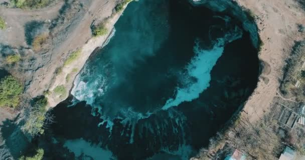 Aerial drone top view of amazing Broken Beach in Nusa Penida, Bali, Indonesia