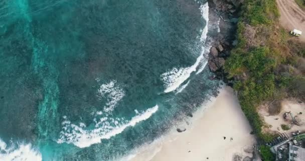 Aerial drone view of Dream Beach at Nusa Lembongan, Bali, Indonesia