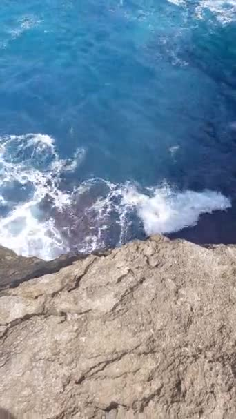 Beautiful Broken Beach in Nusa Penida, Bali, Indonesia - vertical view video