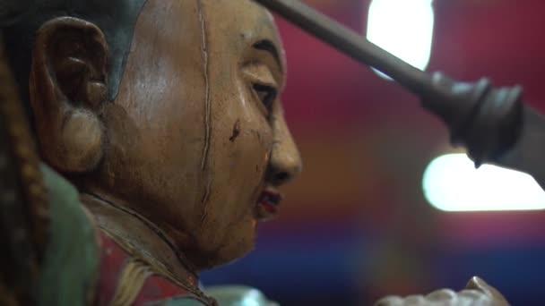 Detailní socha Boha v čínský chrám, Thajsko