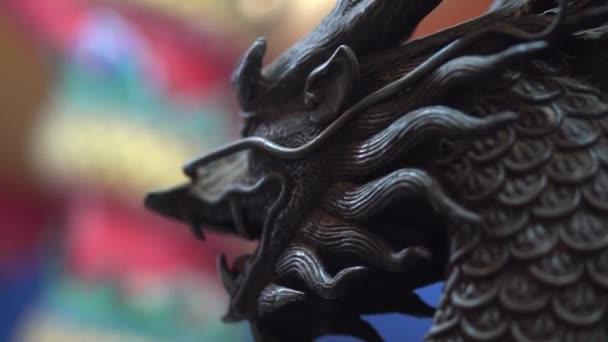 Vértes dragon szobor a kínai temple, Thaiföld