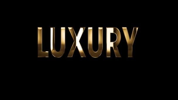 Luxury fashion brand - text animation with gold letters over black background