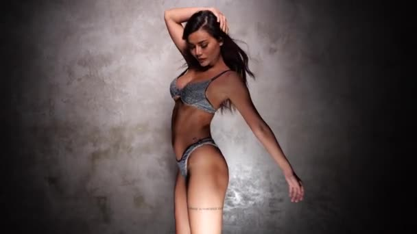Beautiful Asian girl dancing freestyle, hip hop, dancehall, street dance style in the studio