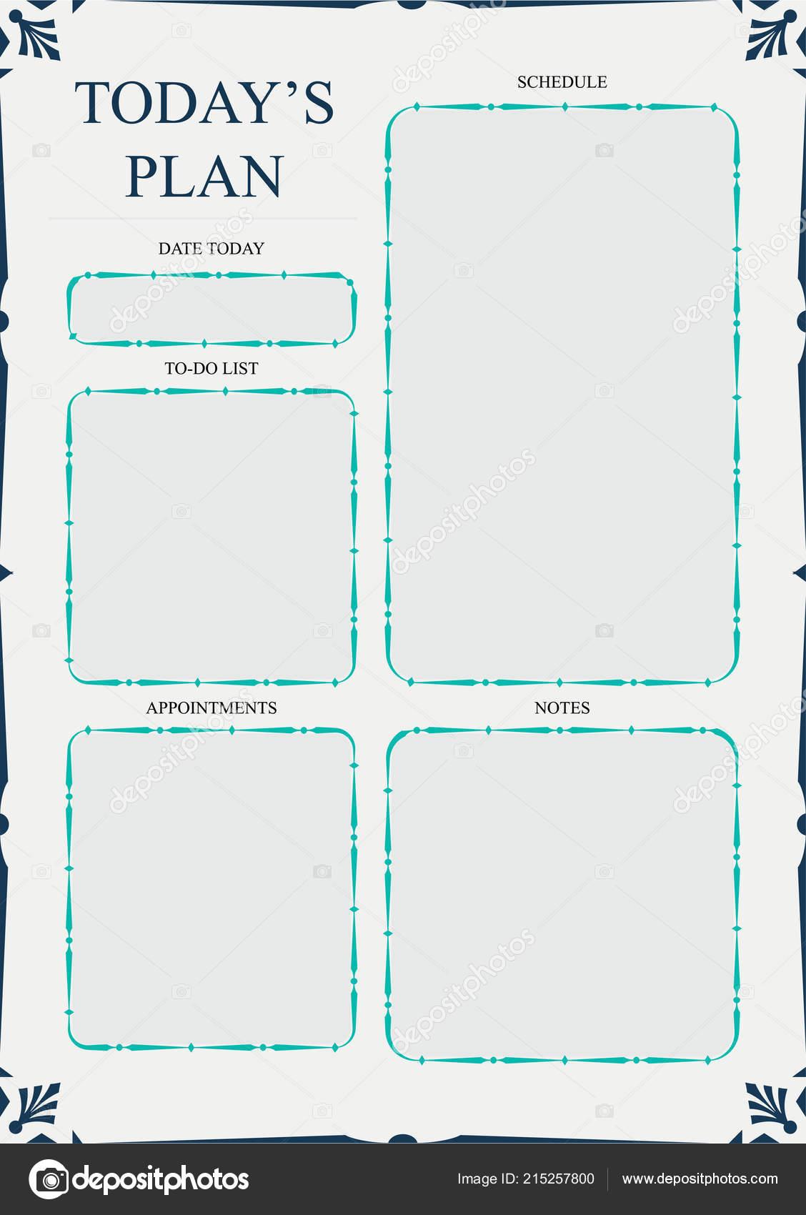 schedule of activities template