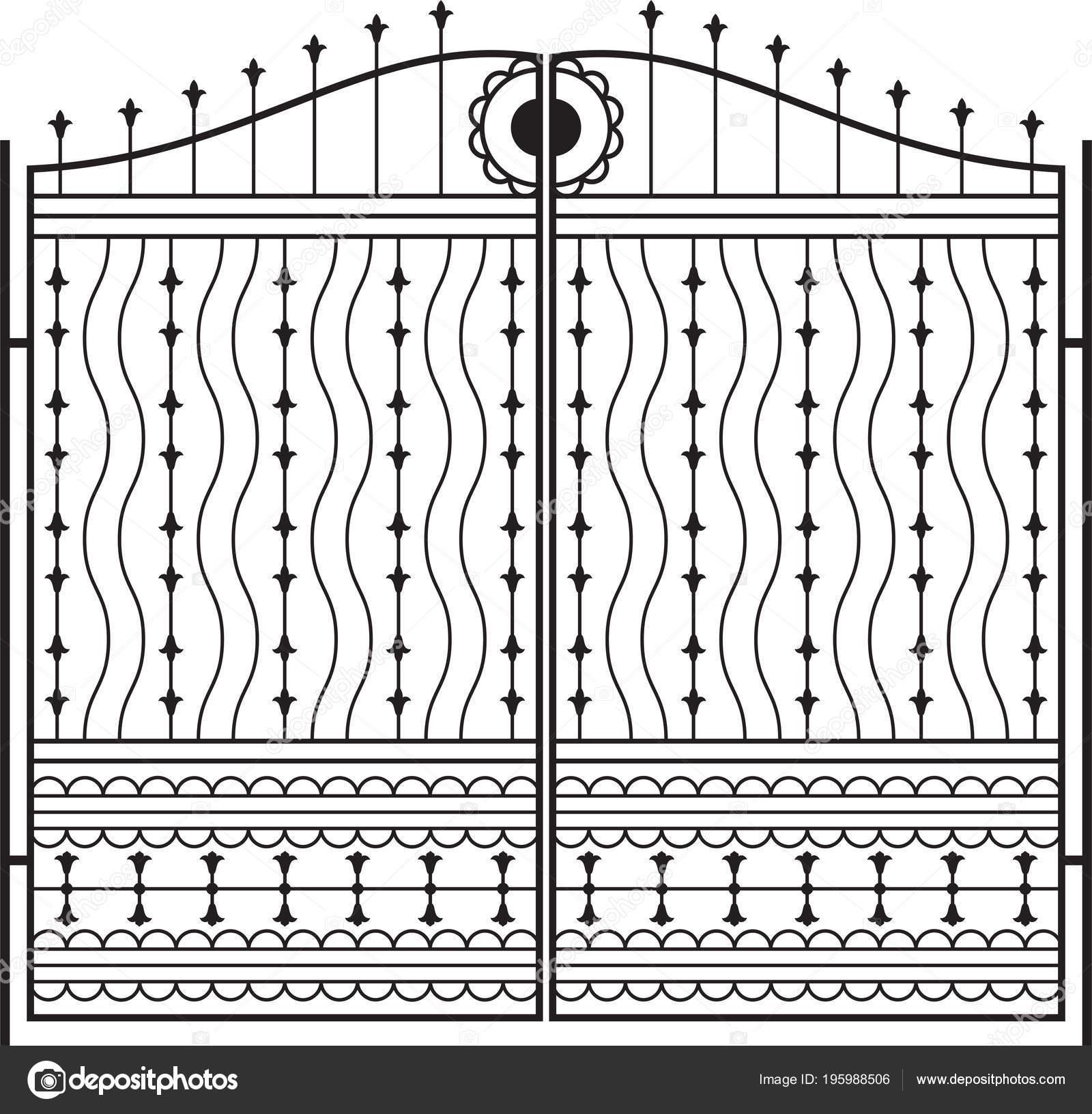 Portail Fer Forgé Clôture Porte Fenêtre Grille Garde Corps Design
